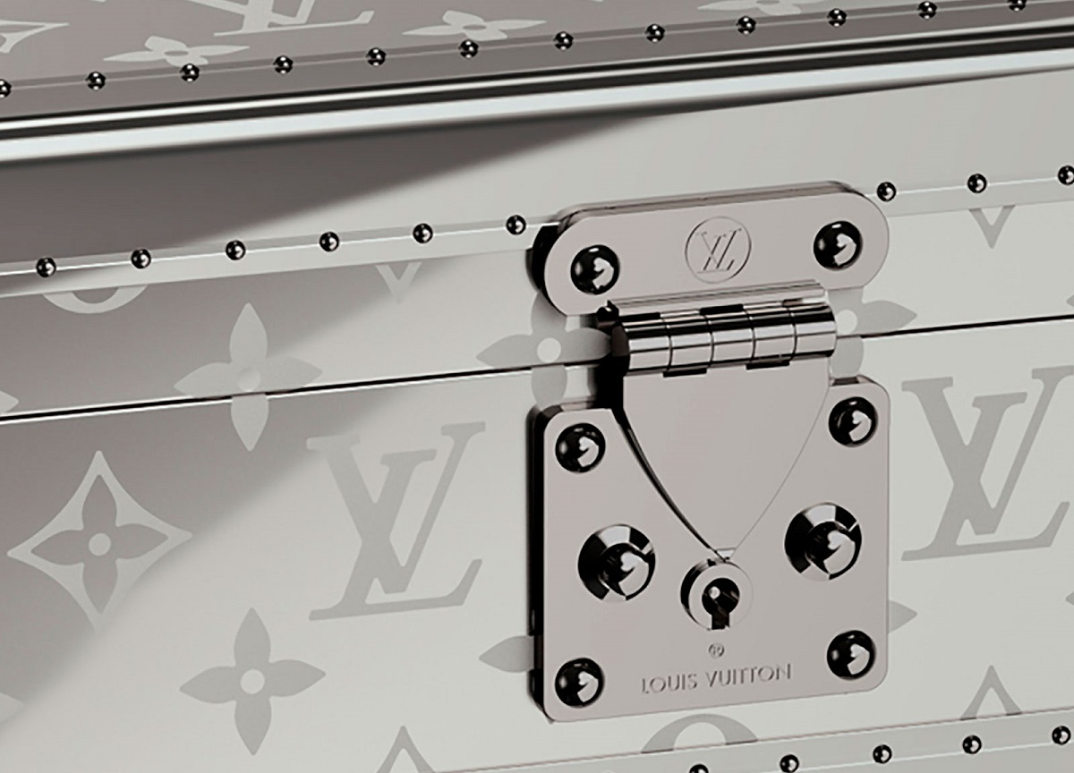 Louis Vuitton's Monogram Titanium watch trunk