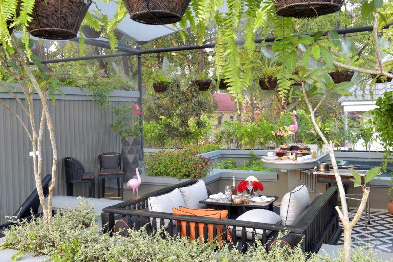 Shinta Mani Angkor Bensley Collection: Rooftop Living Room