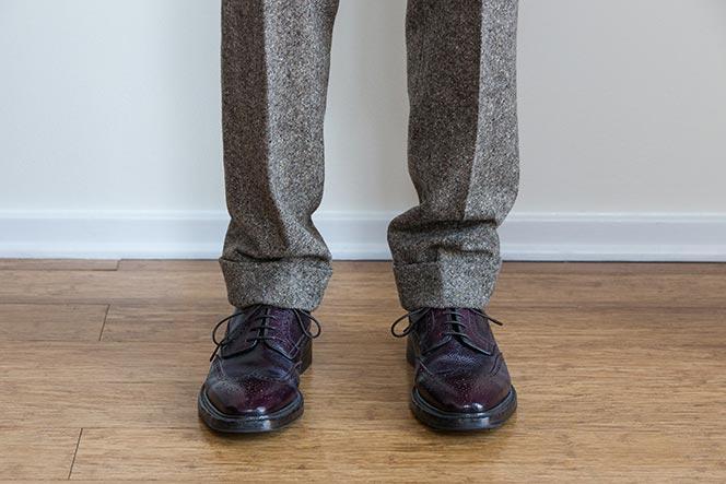 Hem break men's formalwear