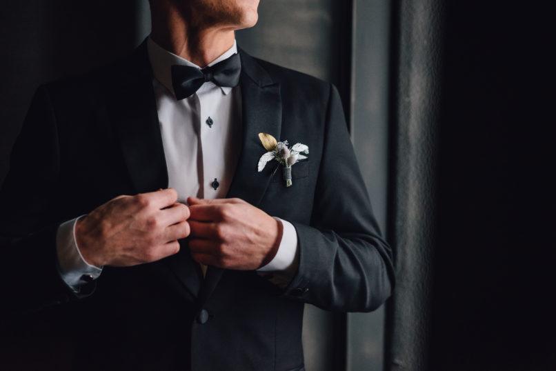 Men's black suit
