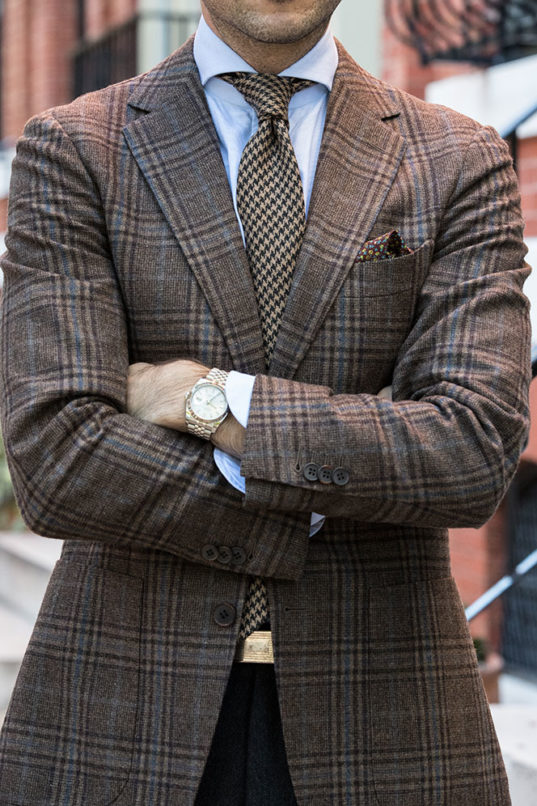 Menswear Pattern Mixing
