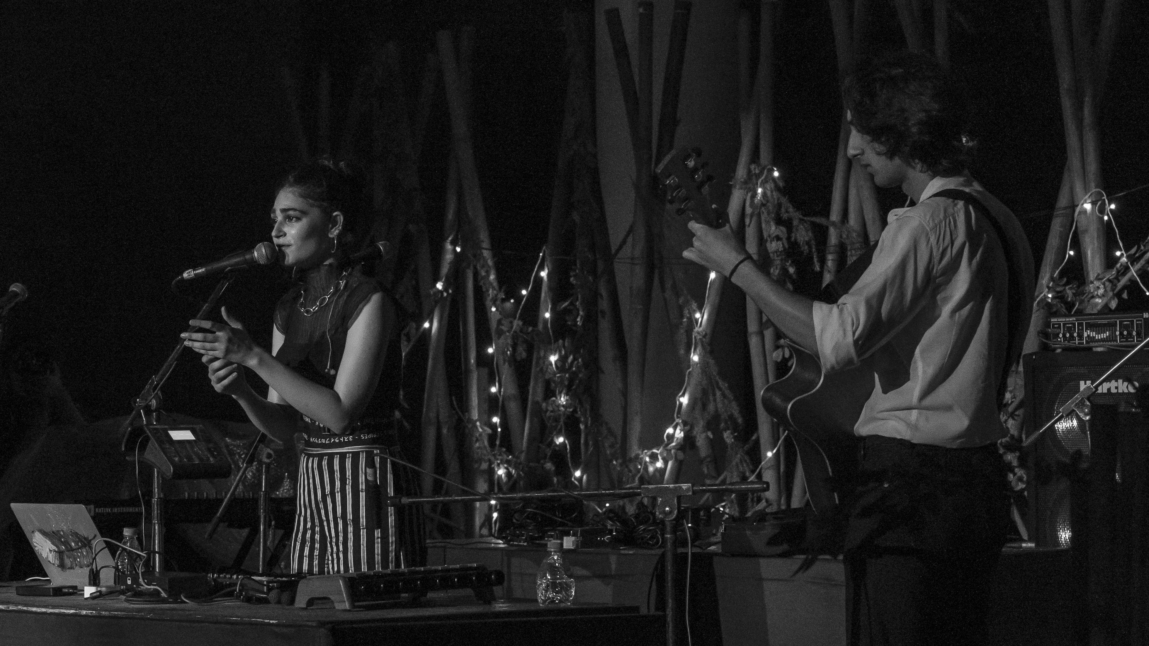 Kavya Trehan performing with band Mosko