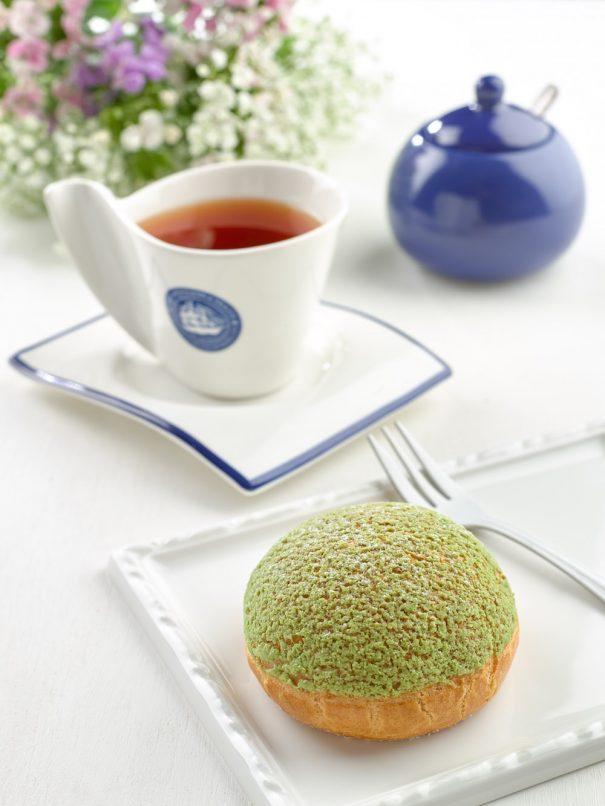 The 1872 Clipper Tea Co Matcha Choux Puff Afternoon tea set copy