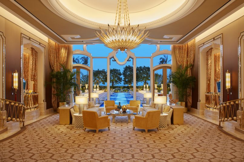 The 743-square-metre living room inside the three-bedroom Garden Villa.