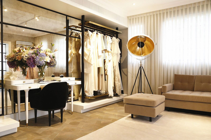 Showroom space inside the couture house of Grace Chen.