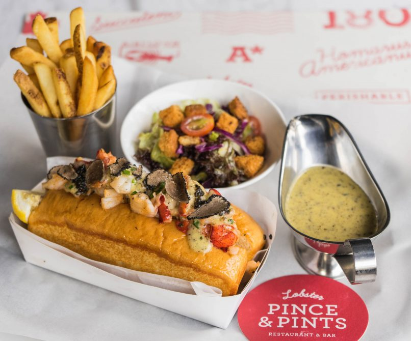 The classic lobster roll gets a decadent upgrade.