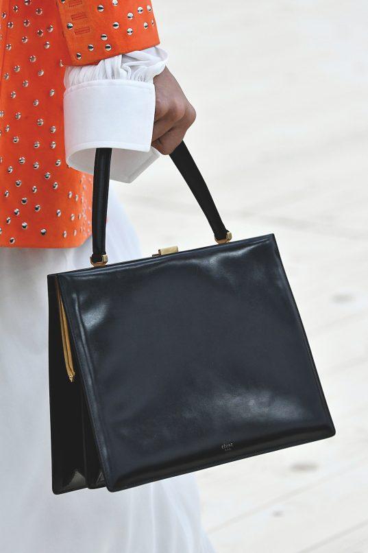69bbe2f6a20d celine clasp bag ss17 The Medium Clasp in black calfskin ...