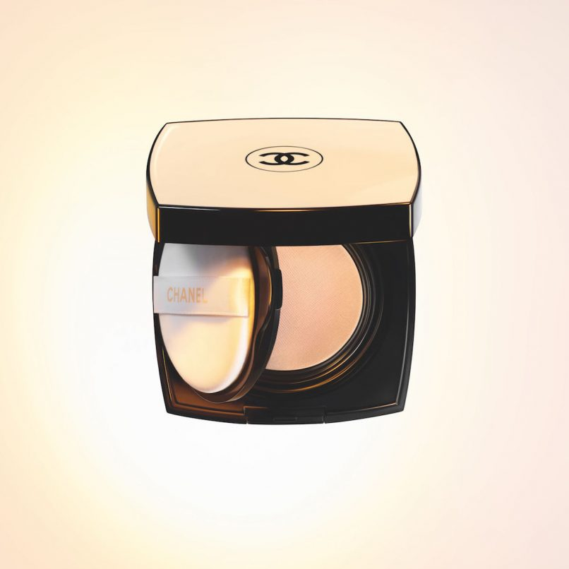 chanel les beiges healthy glow gel touch foundation cushion review