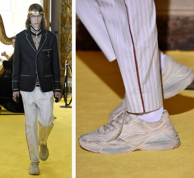 gucci dirty shoes cruise 2018