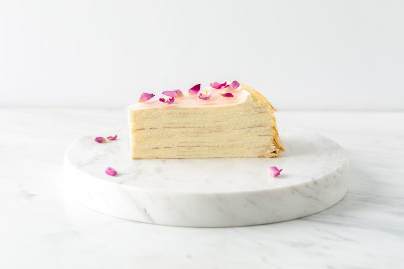lady m rose mille crepes
