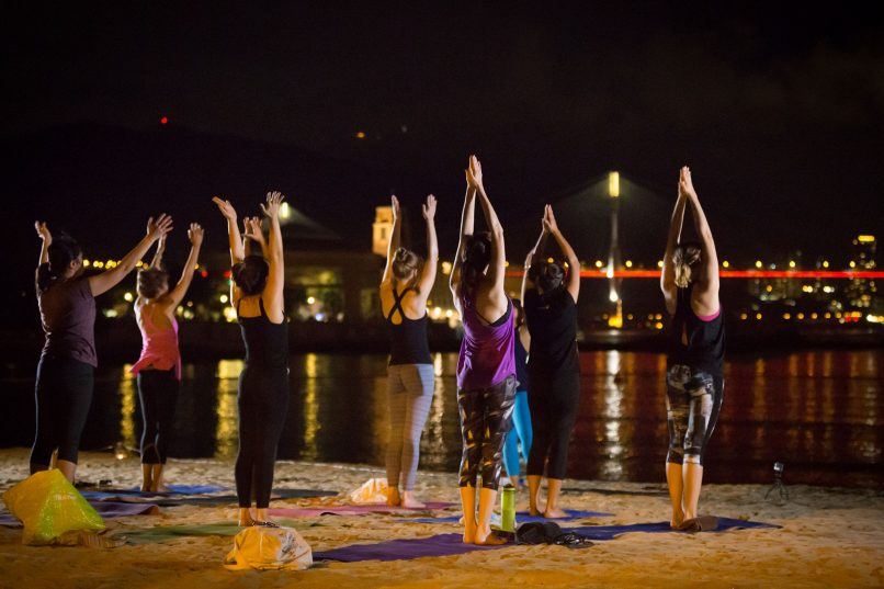 Things to do - Beach Yoga at Cafe Roma
