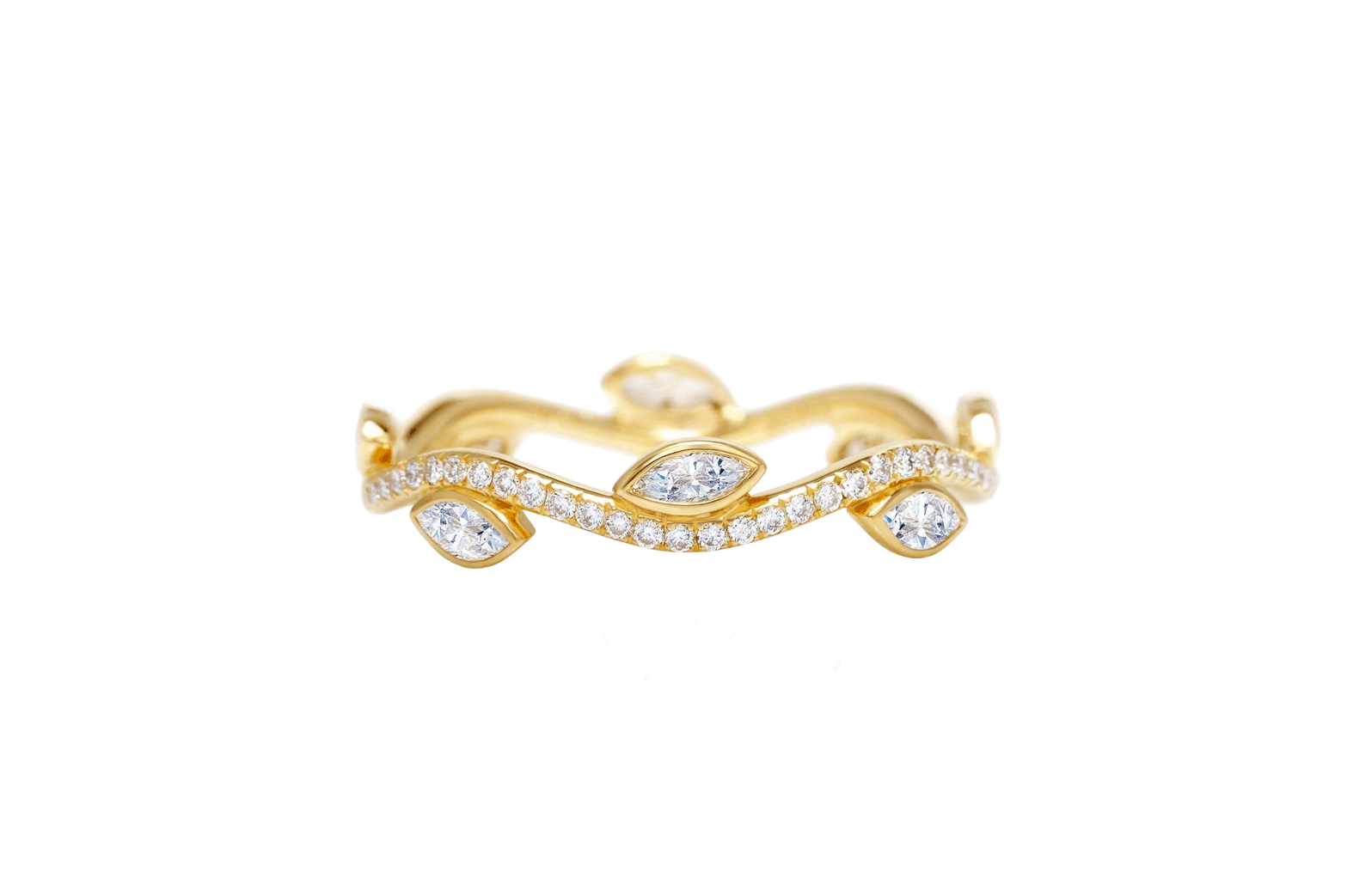 De Beers Adonis Rose yellow gold band
