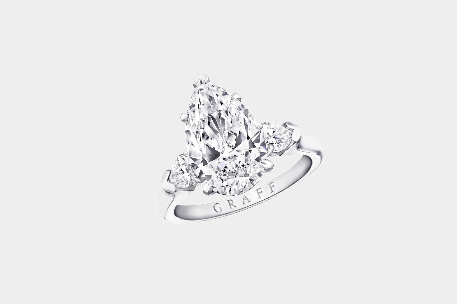 Graff Promise pear shape diamond ring