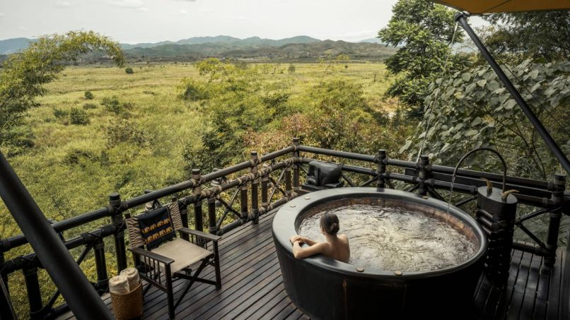 Four Seasons Tented Camp Golden Triangle glamping thailand