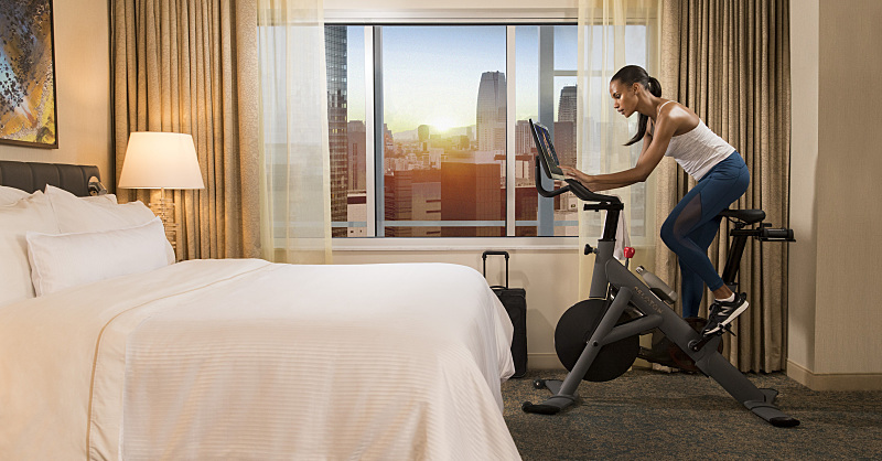on-demand fitness Westin x Peloton