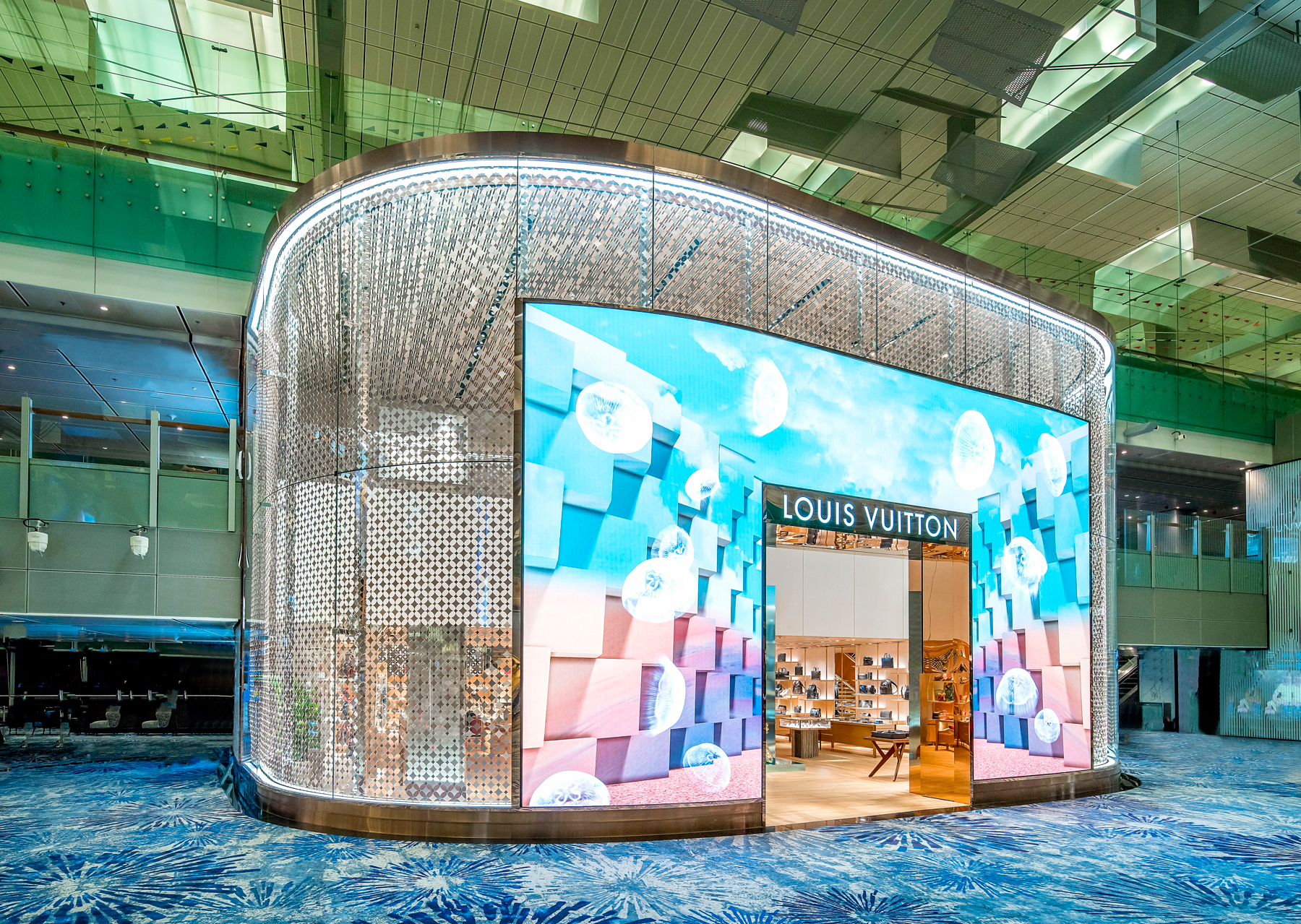 8d3be95d910 Store explore  Louis Vuitton opens first airport boutique in South Asia at  Changi. Bianca Husodo. Standard Article Hero