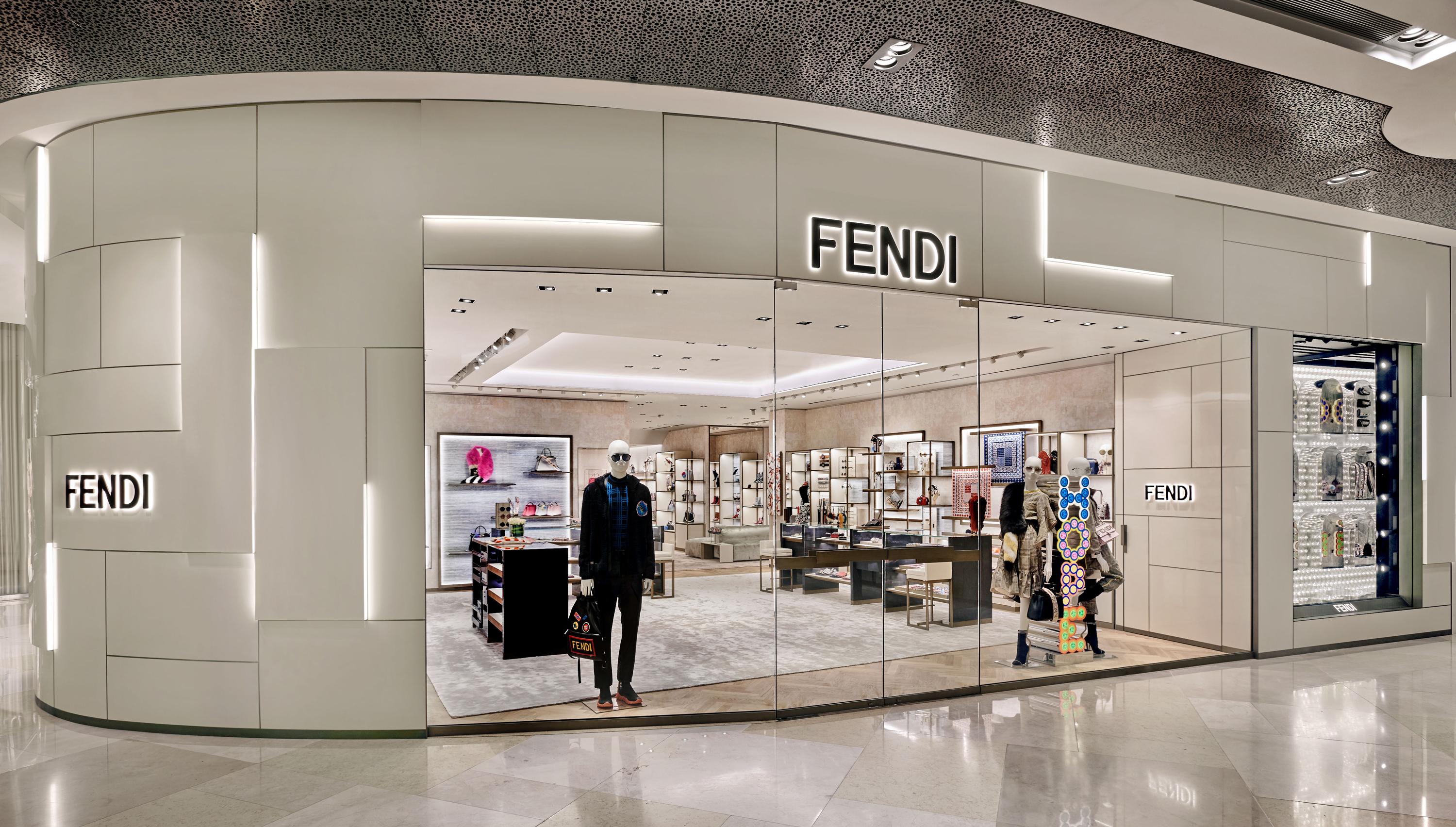 fendi reveals its new ion orchard boutique and flies in the fendi kiosk