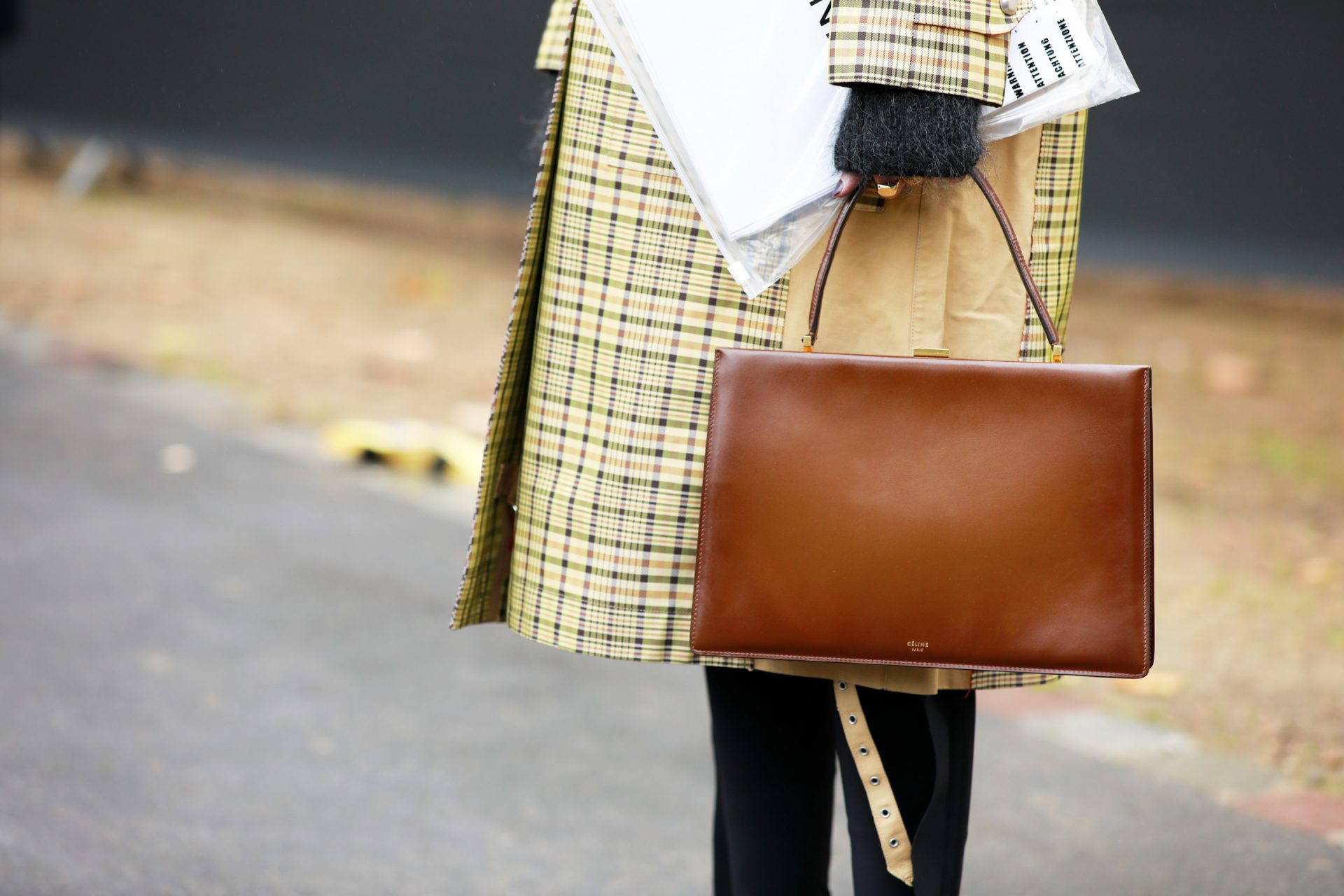 celine clasp bag street style