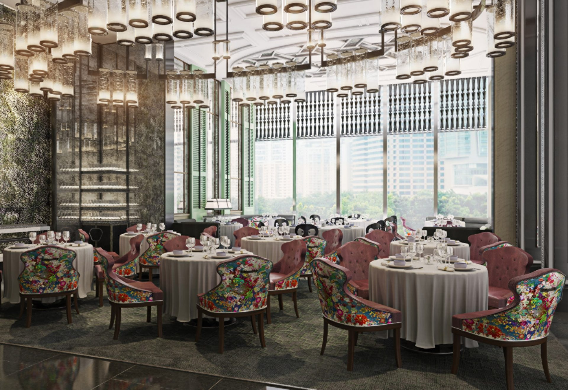 Back in October 2017, we teased you with information that the Four Seasons Hotel Kuala Lumpur would be opening this year. Good news for you, because we have just gotten a sneak peek of how the interior of this luxury hotel is going to look like. Situated next to the Petronas Twin Towers, this 65-storey building will be home to 209 guest rooms and suites, six restaurants and lounges, a spa and wellness centre, and a luxury retail outpost. If you're not keen on just staying over at the Four Seasons as a temporary guest, you'll be glad to know that this skyscraper will also have 242 private residences and 27 serviced apartments. While you're deciding if you're going to be a hotel guest or a private resident, we'll distract you with an epicurean journey through the Four Seasons Hotel Kuala Lumpur. Executive chef Junious Dickerson takes the lead from the six restaurants and lounges. These include Yun House, a Chinese restaurant focusing on Cantonese cuisine; Curate, the all-day buffet restaurant; Pool Bar & Grill, a poolside dining area serving Middle Eastern cuisine; The Lounge at Four Seasons, where guests can enjoy breakfast and afternoon tea; Bar Trigona, a cocktail bar serving customisable creative cocktails made with local and sustainable ingredients; and finally,Decadent by Four Seasons, the local patisserie shop that stocks fine pastries, baked goods, desserts, gelato, and bespoke chocolate pralines. However, gastronomical indulgences are not the only decadence you can get at the Four Seasons. Book a slot at The Spa at Four Seasons to get your fill of luxurious pampering. The spa is an expansive one that features eight treatment rooms, which also includes two couples' rooms. A peek into the spa menu shows that the treatments are inspired by ancient wellness practices from Southeast Asia. Inside the Fitness Centre is a gym that has the latest weight training and physicalfitness equipment, all whilst overlooking the KL skyline. The Four Seasons Hotel Kuala Lumpur i