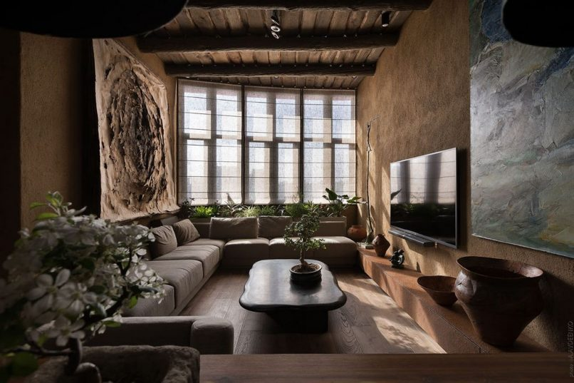 This Japanese home trend for 2018 is an ode to imperfection on natural house paint colors, natural lighting interiors, natural cabin interiors,