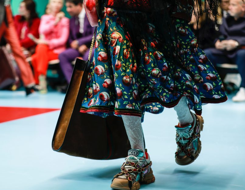 67f827349c1 These sneakers with the SEGA font makes an appearance in Gucci s Fall Winter  2018 collection. (Image  Gucci   Bratislav)