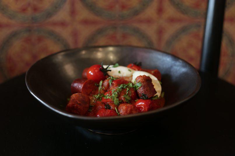 Chorizo shakshuka at Via Maris new Mediterranean brunch menu
