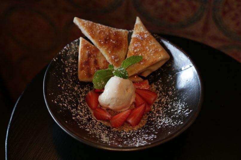Morrocan pancakes Via Maris new Mediterranean brunch menu
