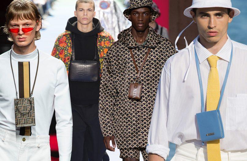 neck wallets spring 2019 menswear trends