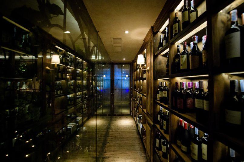 The Bar Upstairs wine cellar