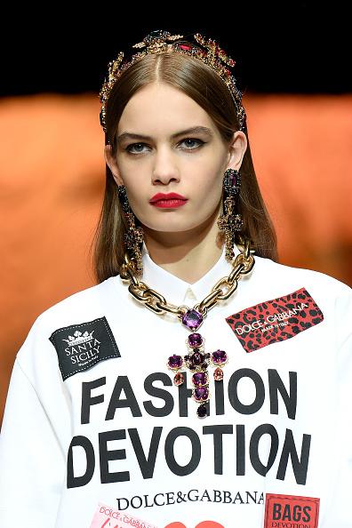 Chunky chains at Dolce & Gabbana. Image: Courtesy Venturelli/WireImage
