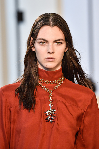 The leaf pendant at Chloe. Image: Courtesy: Peter White/Getty Images