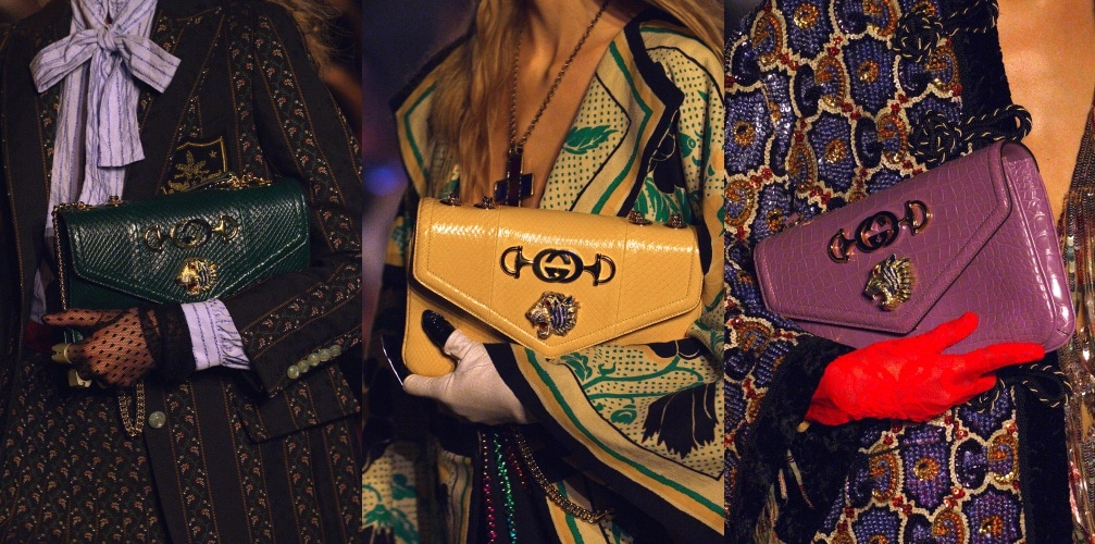 713e99d8586b Gucci plays with a splendid tiger motif for its new Rajah bags. Margaret  Lau Contributing Writer. Standard Article Hero