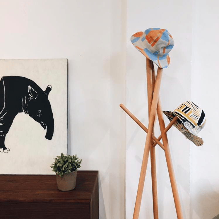 Find interesting art pieces including this tapir one for your home.