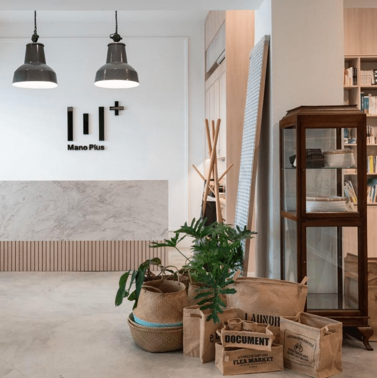 The interiors of Mano Plus is curated with lifestyle goods by local artisans.