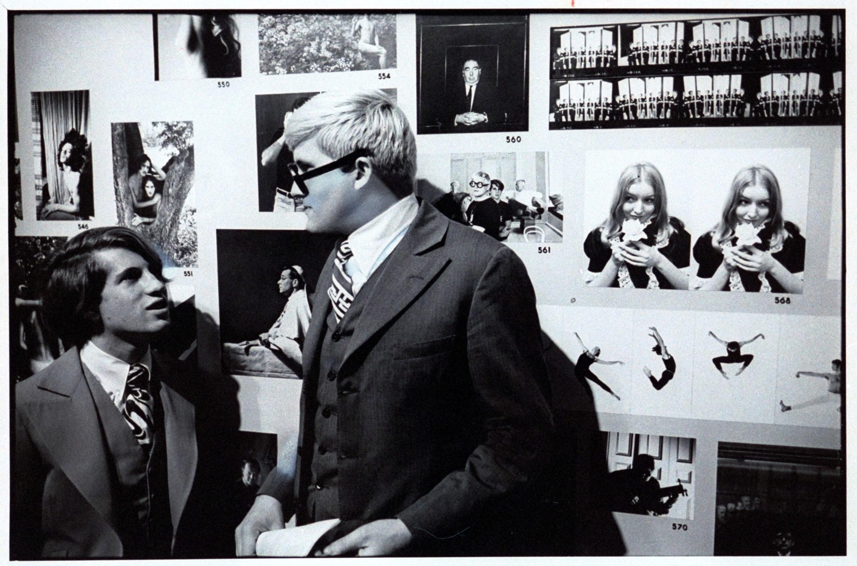 David Hockney with Peter Schlesinger