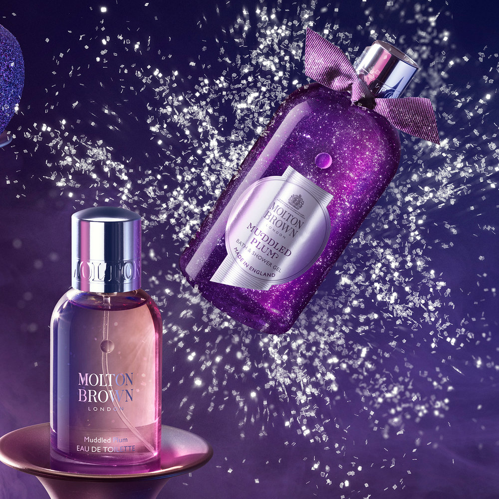 Molton Brown's muddled plum collection