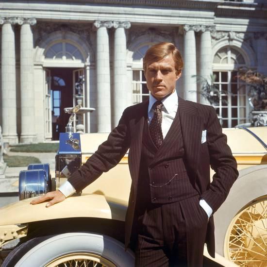 Robert Redford in 'Great Gatsby' wearing a Ralph Lauren suit