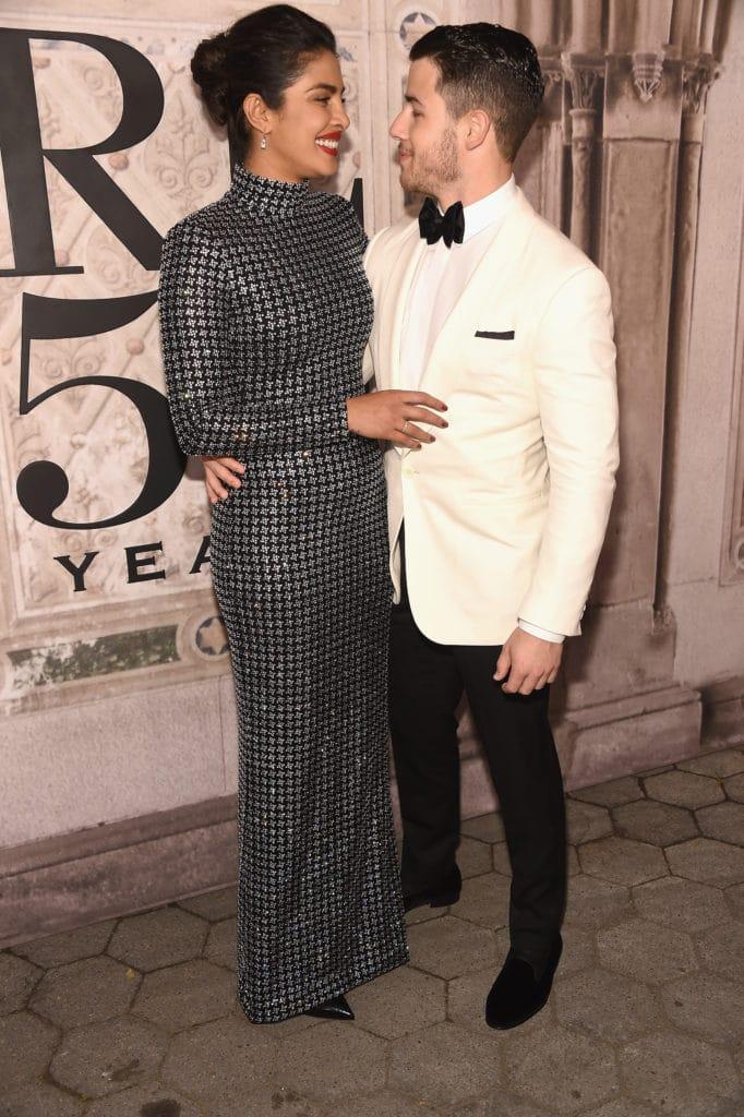 Actress Priyanka Chopra and Nick Jonas attend the Ralph Lauren 50th Anniversary event Image: Courtesy Gary Gershoff/WireImage