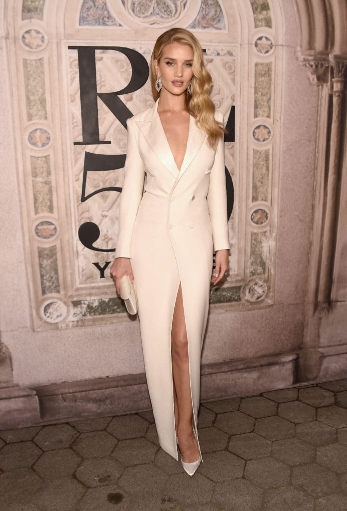 Rose Huntington-Whiteley attends the Ralph Lauren 50th Anniversary event. Image:Courtesy Gary Gershoff/WireImage