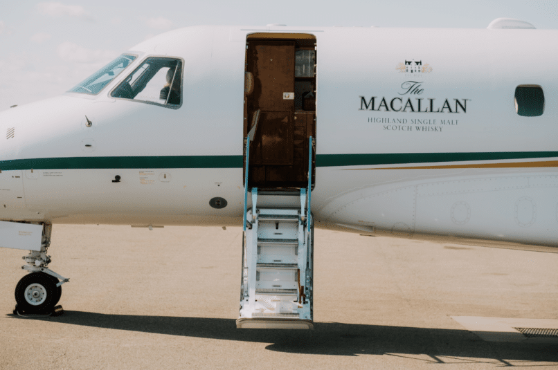 the macallan private jet and yacht