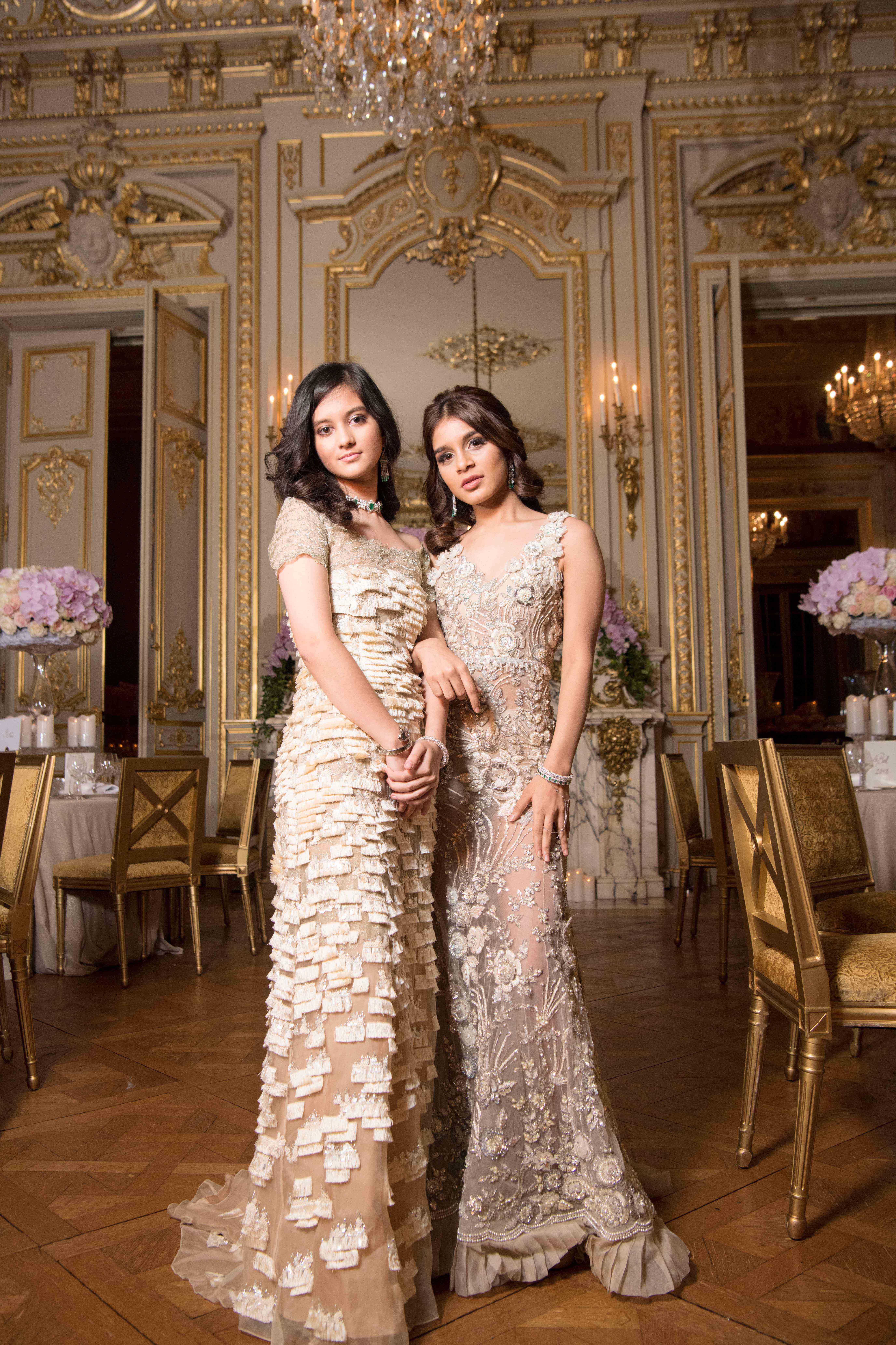 Princess Ananya with Shloka Birla. Image: Courtesy Yunling Fang