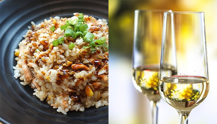 Pair wine with Thai food: champagne
