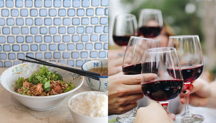 Pair wine with Thai food: red