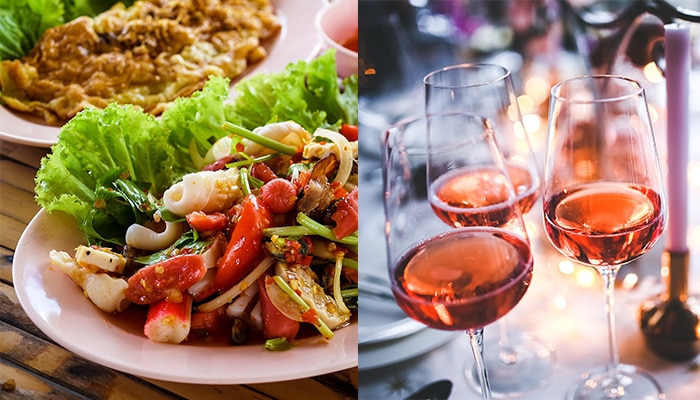 Pair wine with Thai food: rose