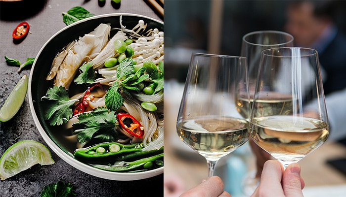 Pair wine with Thai food: white