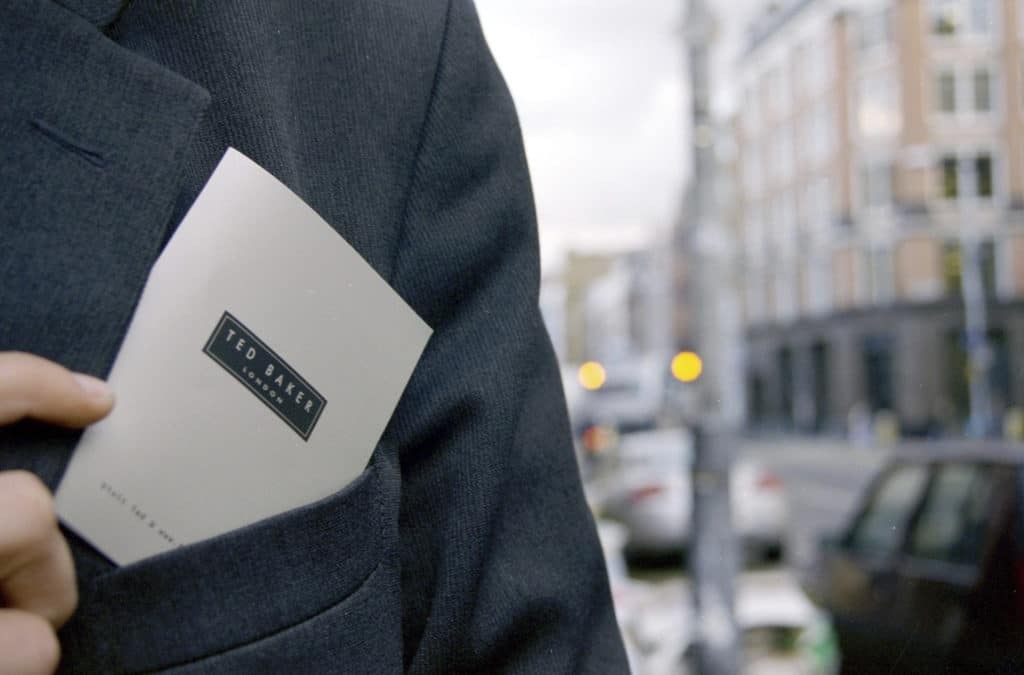 Ted Baker clothing.