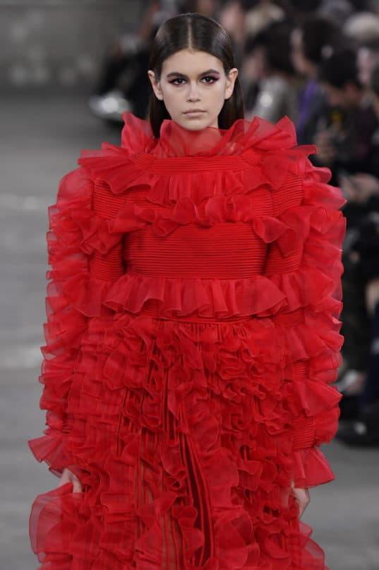 Kaia Gerber walks the runway at the Valentino TKY 2019 Pre-Fall Collection at Terada Warehouse on November 27, 2018 in Tokyo, Japan.Image: Courtesy Victor VIRGILE/Gamma-Rapho via Getty Images