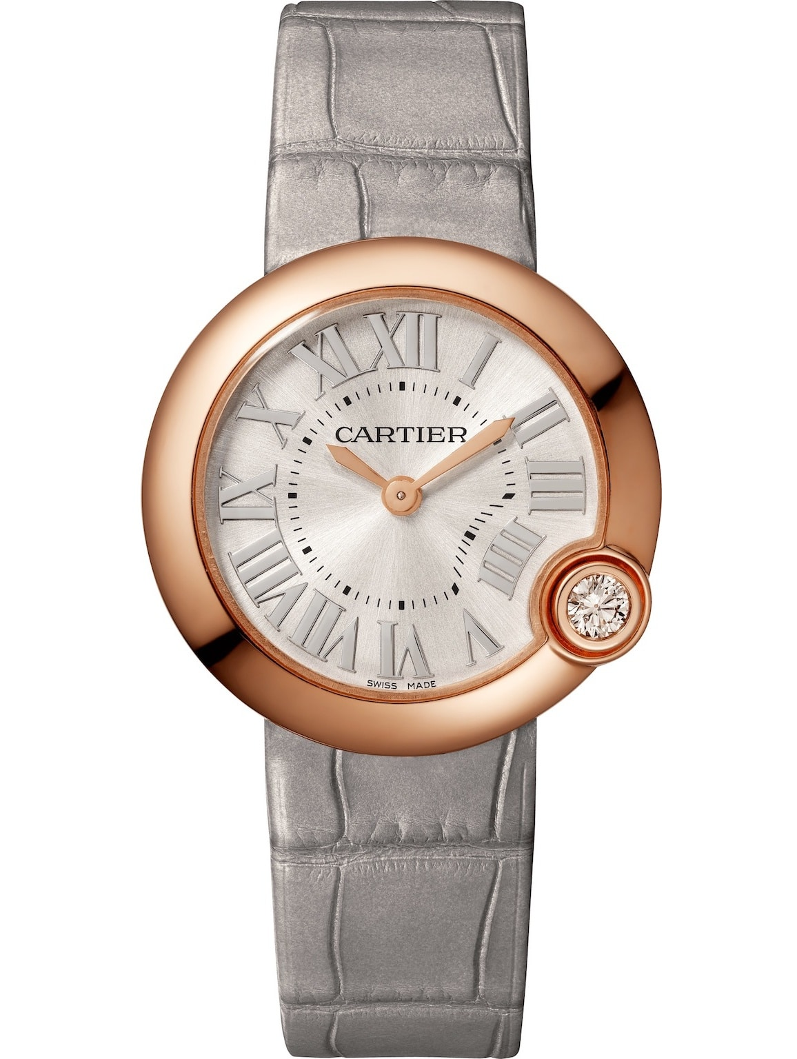 Pictured: the Ballon Blanc de Cartier, available in 26 and 30mm variants, in 18-carat pink gold.