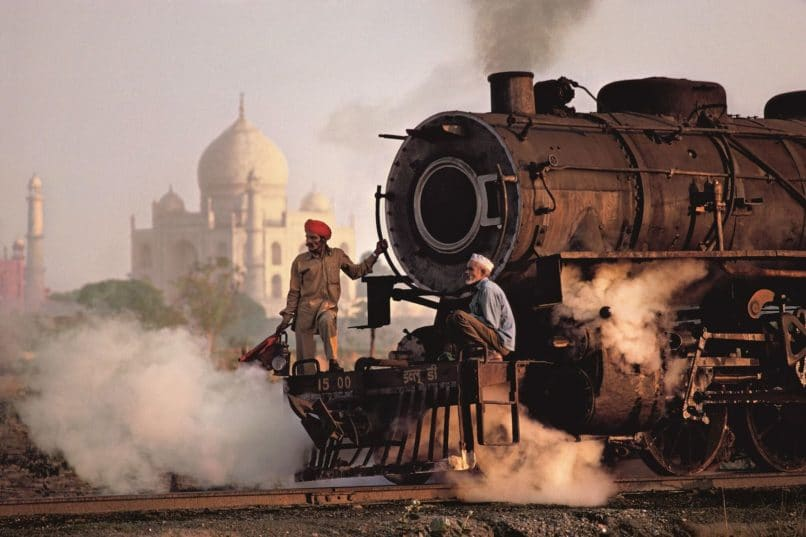 Taj and Train by Steve McCurry