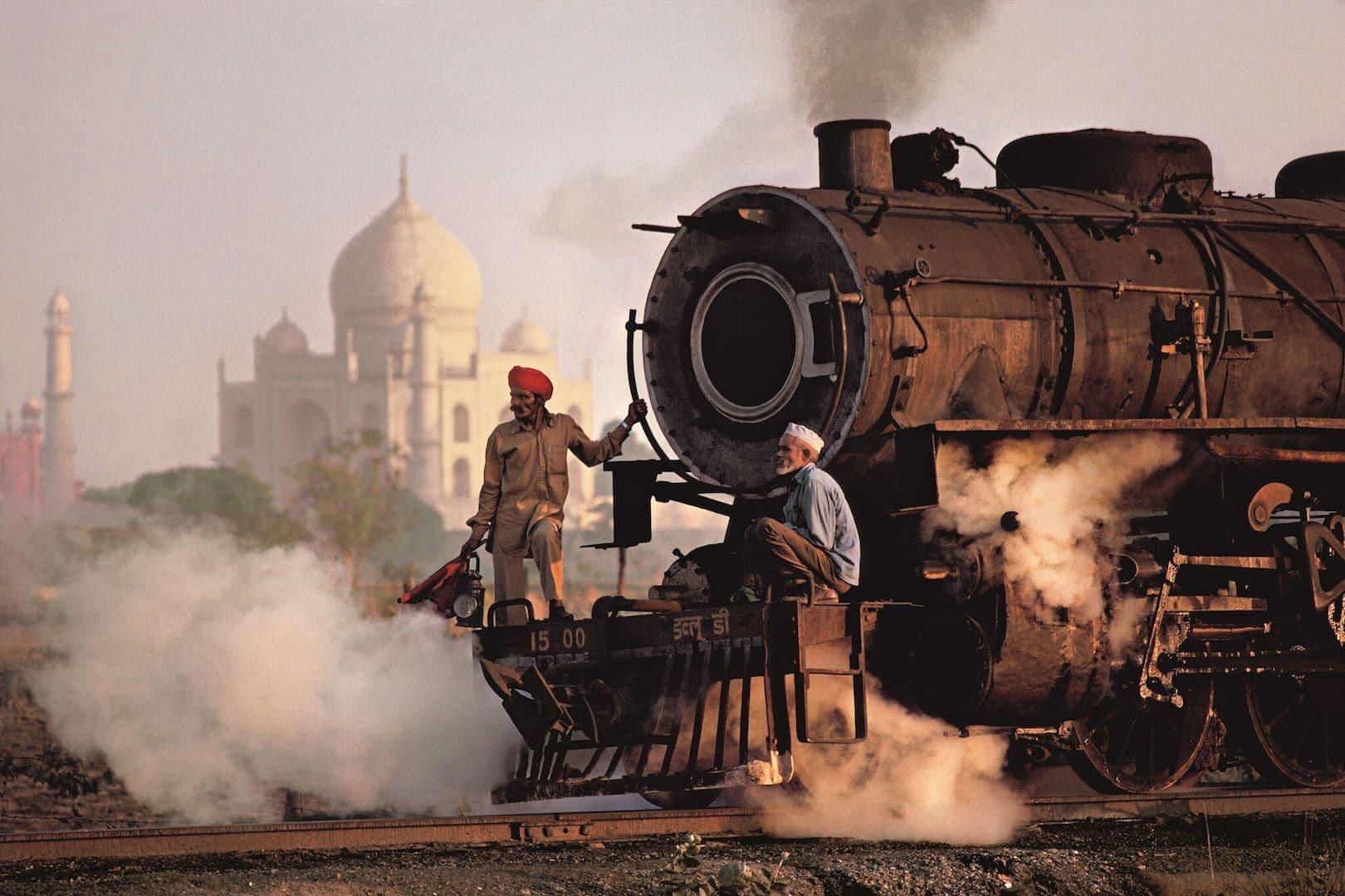 Taj and Train by Steve McCurry